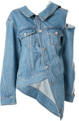 Ground Zero One Shoulder Denim Jacket