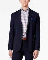 Vince Camuto Men's Navy Seersucker Stripe Slim-Fit Stretch Cotton Blazer