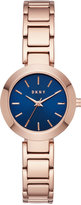 DKNY Women's Stanhope Rose Gold-Tone Stainless Steel Bracelet Watch 28mm NY2578