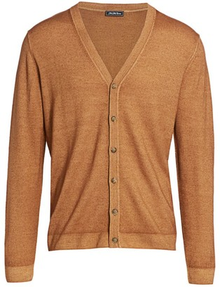 Saks Fifth Avenue COLLECTION Garment Dyed Merino Wool Cardigan
