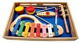 Schoenhut Piano Band-in-A-Box, Xylophone, Jingle Stick, Triangle, Castanets, Kazoo