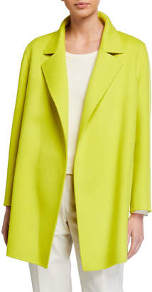 Theory Clairene Open-Front New Divide Wool-Cashmere Coat