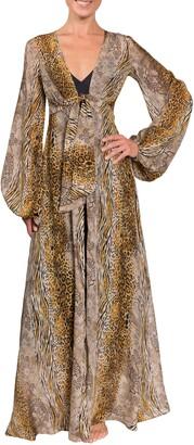 Everyday Ritual Bubble Sleeve Long Robe