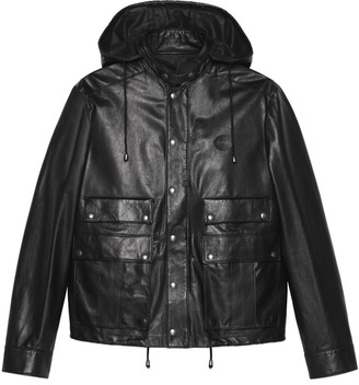 Gucci Leather jacket with Interlocking G