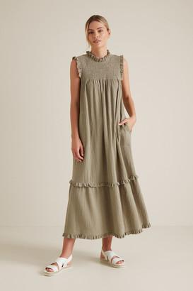 Seed Heritage Shirred Crinkle Dress