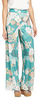 Very Wide Leg Printed Trousers In Print Size 8