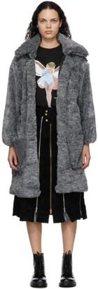 Youths in Balaclava Grey Faux-Fur Coat