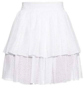 Sophie Theallet Anais Tiered Ruffle Mini Skirt - Womens - White