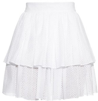 Sophie Theallet Anais Tiered-ruffle Mini Skirt - Womens - White