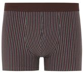 Selected Burgundy Stripe 'Dan' Trunks