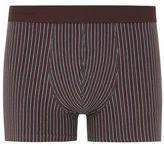 Selected Burgundy Stripe Trunks