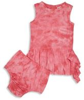 Splendid Tie-Dye Dress and Bloomers Set