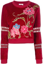 See by Chloe embroidered sweater - women - Cotton/Polyester/Spandex/Elastane - S