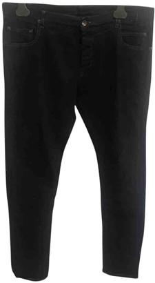 Rick Owens Black Cotton - elasthane Jeans