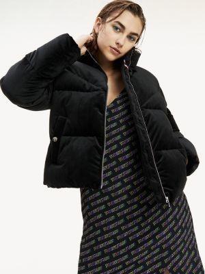 Tommy Hilfiger Velvet Puffer Jacket