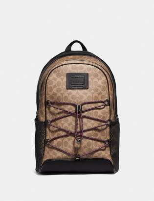Coach Academy Sport Backpack In Signature Canvas