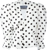 Jacquemus polka dot puff shoulder blouse - women - Silk/Cotton/Viscose - 38