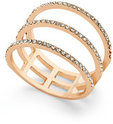 INC International Concepts Rose Gold-Tone Three-Row Pavé Ring, Only at Macy's