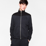 Paul Smith Men's Navy And Black Panelled Track Top
