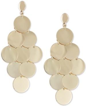 Italian Gold Multi-Disc Dangle Drop Earrings in 14k Gold-Plated Sterling Silver