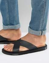 Dr. Martens Platt Sandals In Black