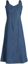 ADAM by Adam Lippes Sleeveless denim midi dress
