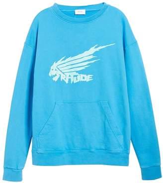 Rhude blue dragon sweatshirt