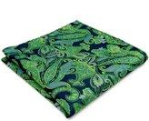 Shlax & Wing Shlax&Wing Paisley Blue Handkerchief Mens Hanky Big Size Hankies Pocket Square...