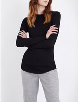 Joseph Ribbed cotton and cashmere-blend top