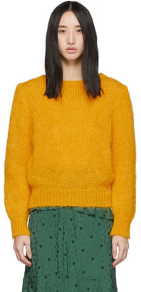 ALEXACHUNG Yellow Meadow Sweater