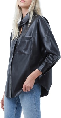 French Connection Rhodes Faux Leather Shirt