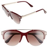 Tom Ford Women's Adrenne 55Mm Sunglasses - Black/ Rose Gold/ Smoke