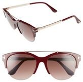 Tom Ford Women's Adrenne 55Mm Sunglasses - Black/ Rose Gold/ Smoke