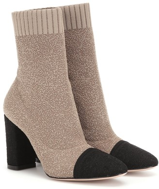 Gianvito Rossi Boucle-knit ankle boots