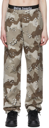 Palm Angels Brown Camouflage Aftersport Lounge Pants