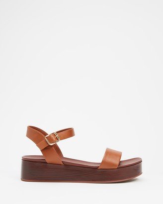 Aldo Women's Brown Sandals - Cobbswell Ankle Strap Sandals - Size 6 at The Iconic