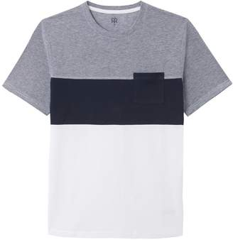 La Redoute Collections Cotton Colour Block T-Shirt with Short Sleeves