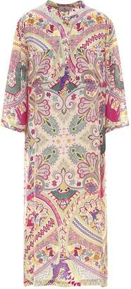 Etro Naif Paisley Print Dress