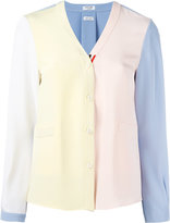 Thom Browne v-neck cardigan - women - Silk - 42