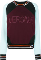 Versace Contrast Colour sweatshirt - women - Cotton/Polyamide/Polyester/Viscose - 38