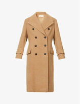 Thumbnail for your product : Victoria Beckham Double-breasted wool and cashmere-blend coat