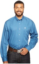 Cinch Long Sleeve Plain Weave Solid Men's Clothing