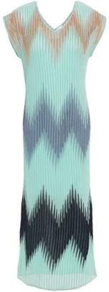 M Missoni Metallic Ribbed-knit Midi Dress