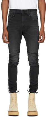 R 13 Black Cooper Drop Jeans