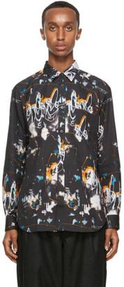 Comme des Garçons Shirt Black Poplin Futura Edition Print Shirt