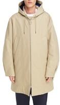 Acne Studios Men's Melt Long Hooded Zip Front Coat