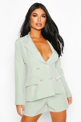 boohoo Petite Double Breasted Blazer