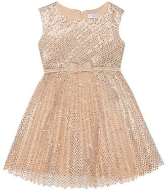 MonnaLisa Sequined tulle dress