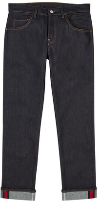 Gucci Dark blue slim-leg jeans
