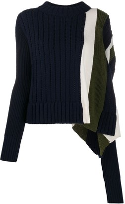 Sacai Mismatch Stripe Jumper